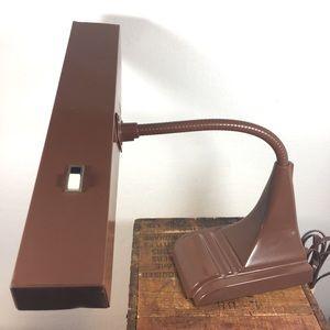 Mid century modern brown metal drafting lamp